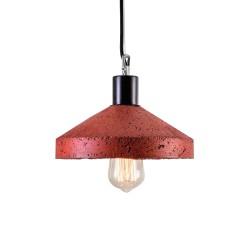 Lampa Betonowa Rocket red brick